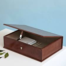 personalised leather box file