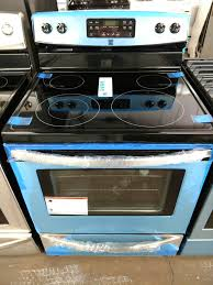 kenmore black and stainless steel glass top stove