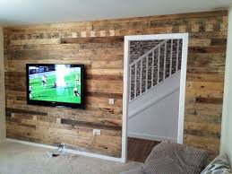 Pallet Wood Backsplash Reclaimed Pallet Wood Wall Youtube