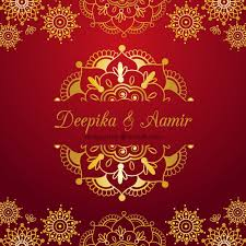 indian wedding card on a red background vector free download Indian Wedding Card Free Vector indian wedding card on a red background free vector indian wedding card design vector free download