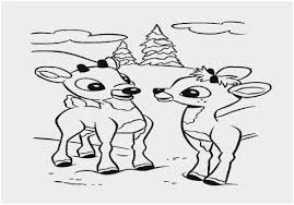 Santa And Reindeer Coloring Pages Printable Prettier Rudolph