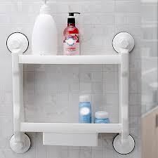 Maxswan Wand Badezimmer Eckregal Sucker Saugnapf Kunststoff Dusche