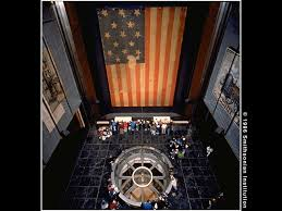 Image result for the flag that flew over Fort McHenry in 1914 is housed at the Smithsonian Institution's Museum of American History in Washington, D.C.