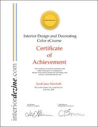 Certificate Of Interior Design