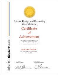 Certificate Of Interior Design