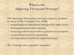 teaching american history ppt video online  what is the opposing viewpoints strategy