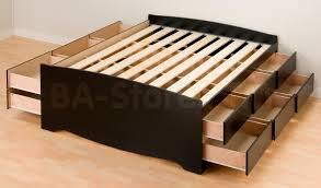 Sonoma Bedroom Furniture Prepac Sonoma 3pc Queen Platform Storage Bedroom Set Black