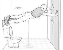 When youre using public restroom and the door wont lock