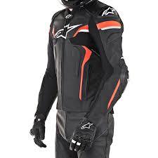alpinestars celer v2 leather jacket black white fluo red thumb 3