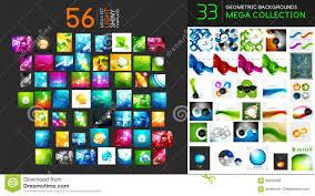 Vector Mega Collection Of Geometric Shiny Hi Tech Abstract