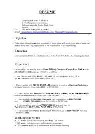Electrician Apprentice Resume Lovely Electrician Resume Examples