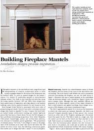 fireplace mantels plans