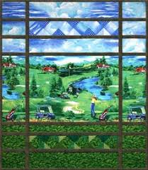 Golf Anyone? Pieced Quilt Pattern by Cynthia England at England ... & Golf Course Quilt Kit Adamdwight.com