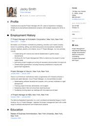resume example for free project manager resume example template sample cv formal