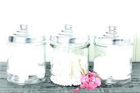bathroom glass jars with lids jar set containers for accessories storage