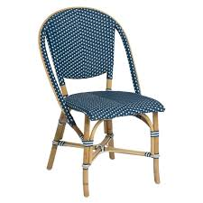 blue and white chair. Sika Design Sofie Bistro Side Chair Blue And White