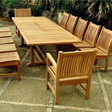13 piece dining room set piece teak patio dining set w x inch rectangular double extension table