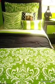 black and green bedding grey lime damask set view 2