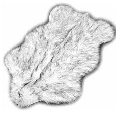 black tip russian wolf premium faux fur area rug 2 x3