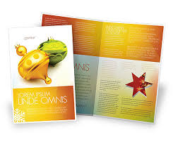 Decorations Of New Year Brochure Template Design And Layout ...