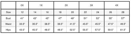 Maggy London Size Chart Size Chart Jaci Blue
