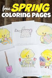 Spring showers coloring page | all kids network. Free Spring Coloring Pages