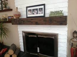 image of solid oak mantel shelf fireplace