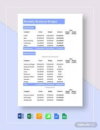 small business budget examples 13 small business budget templates word pdf excel