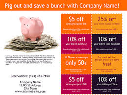 10 Off Coupon Template Coupon Templates Xerox For Small Medium Businesses