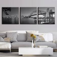 3 pcs set australia landscape grey sydney harbour bridge canvas prints painting modern bridge wall on set of 3 wall art australia with 3 pcs set australia landscape grey sydney harbour bridge canvas