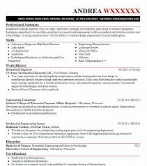 Biomedical Engineer Sample Resume Beauteous Biomedical Engineer Resume Sample Engineering Resumes LiveCareer