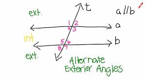 Alternate Exterior Angles Definition Easy