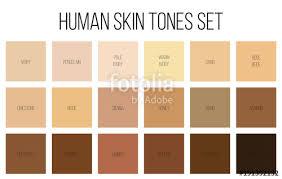 Skin Tone Color Chart Photoshop Creative Vector Illustration Of Human Skin Tone Color