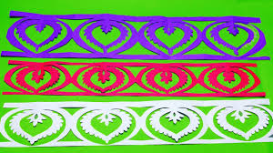 Paper Cutting Border How To Make Paper Cutting Border Designs Easy Craft