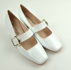 modshoes the lola 60s 70s las shoes white