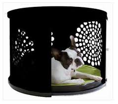 designer dog crate furniture ruffhaus luxury wooden. BowHaus Luxury Dog Den/ End Table Black Designer Crate Furniture Ruffhaus Wooden I
