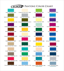 sample pms color chart