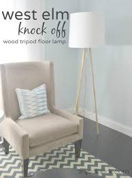 west elm knockoff diy lamp tutorial