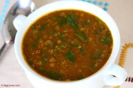 vegan lentils and spinach soup