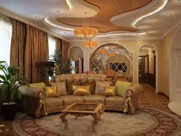 Romantic Living Room Decorating Blue Cream Wall Paint Color Modern Sectional Sofa Set Romantic