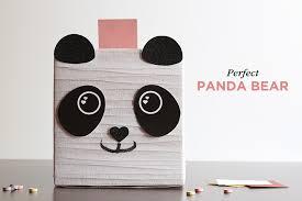 panda bear box printable