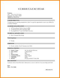 Bcom Resume Format Resume For Freshers Bcom Gentileforda 3