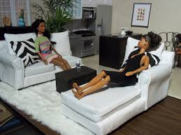 homemade barbie furniture. Homemade Barbie Furniture | : The White Sectional - For And