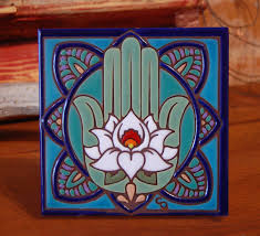 Decorative Tile Coasters 100x100 Hand Glazed Decorative Tile Coaster Trivet 10