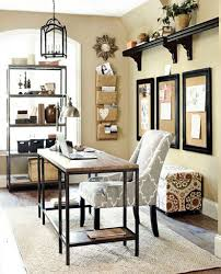 office wall decorating ideas. Beige Wall Color With Antique Wrought Iron Chandelier And Amazing Decor For Superb Work Office Decorating Ideas