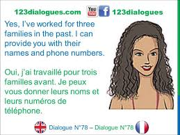 dialogue english french anglais fran ccedil ais job interview dialogue 78 english french anglais franccedilais job interview babysitter entretien d embauche