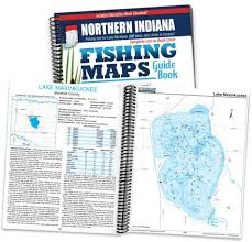 Northern Indiana Fishing Map Guide Print Edition