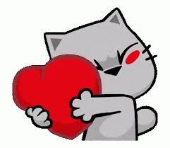 Cats Heart Gif Cats Heart Hug Discover Share Gifs