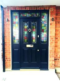 stained glass door panels for decorative front doors black entrance with