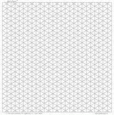Isometric Grid Paper 2cm Lightgray Square Land Letter